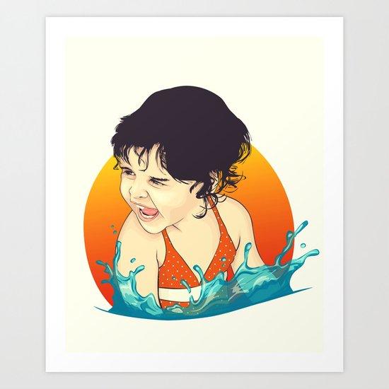 Water Splashes Art Print