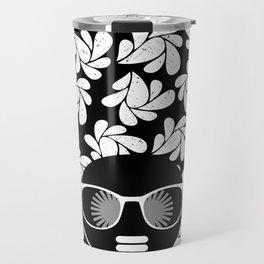 Afro Diva : Black & White Travel Mug