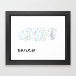 Blue Mountain, Ontario, Canada - Minimalist Trail Art Framed Art Print