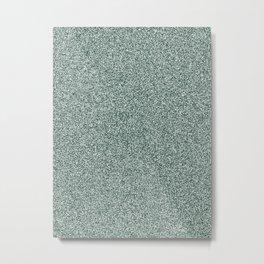 Melange - White and Deep Green Metal Print