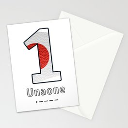 Unaone - Navy Code Stationery Cards