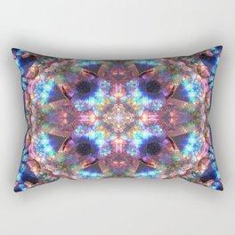 Crystal Cosmos Mandala Rectangular Pillow