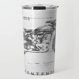 Vintage Triumph Thunderbird Motorcycle Travel Mug