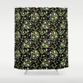 Midnight Moths Shower Curtain