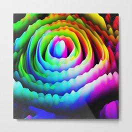 Abstract Flower Artichoke Heart Fractal Design Metal Print