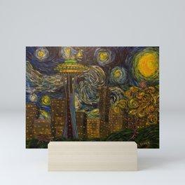 Seattle Starry Night Mini Art Print