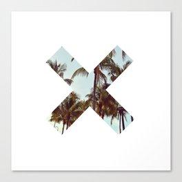 The XX Palm Trees Canvas Print