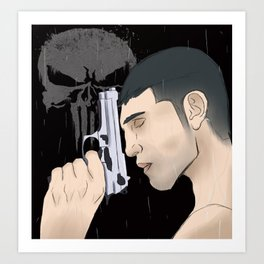 Jon Bernthal Punisher Art Print