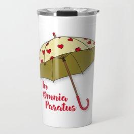 In Omnia Paratus - Umbrella Design Travel Mug