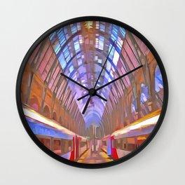 Kings Cross Station Platform Pop Art Wall Clock