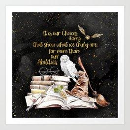 Our Choices - Golden Dust Art Print