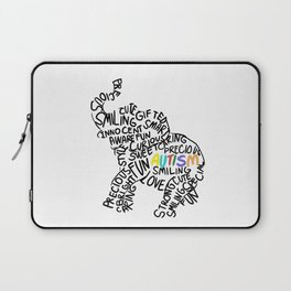 Autism Elephant Awareness Day Autistic Child Gift Laptop Sleeve