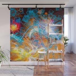 Vegas lights Feeling Heartbroken Abstract Design Wall Mural