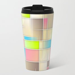 Abstract Retro Pastel Travel Mug