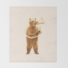 The Bear and his Helicon Throw Blanket