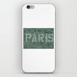 Paris map iPhone Skin