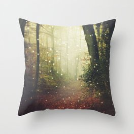 Forest of Miracles and Wonder Throw Pillow