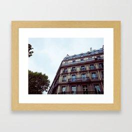 PARISIAN FACADES. Framed Art Print