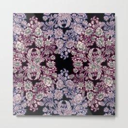 Swirley Floral Metal Print