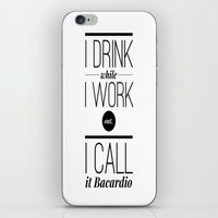 workout iPhone & iPod Skins featuring WORKOUT by REASONandRHYME