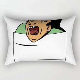 Genius in pocket Rectangular Pillow