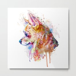 Watercolor Chihuahua Metal Print