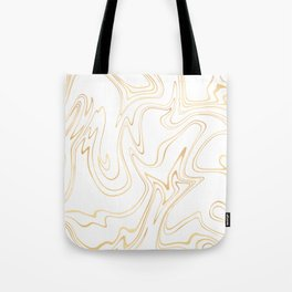 Liquid Gold Marble. Trendy golden ink marbling texture. Suminagashi art. Clear iPhone Case Tote Bag