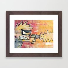 Spaceman Spiff Framed Art Print