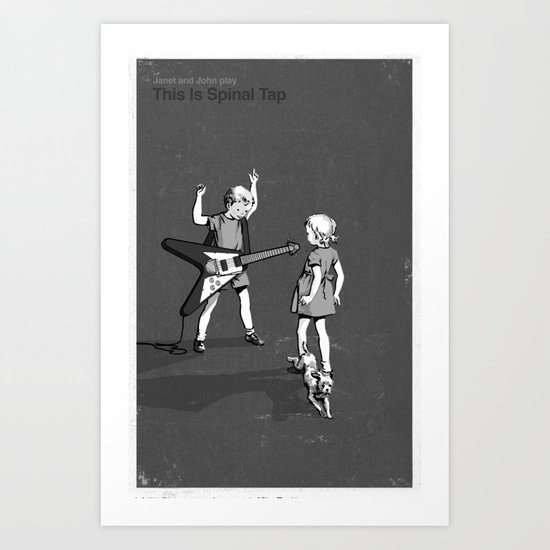 Janet And John Play This is Spinal Tap Art Print