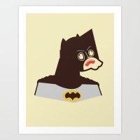 bat man Art Prints featuring Bat Man by Ryder Doty