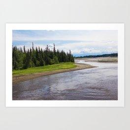 Alaskan River Art Print