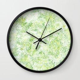 Green and Yellow Foliage Wall Clock