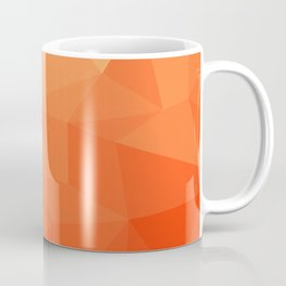 Abstract Geometric Gradient Pattern between Pure Red and very light Orange Coffee Mug