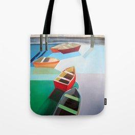 Five Boats Tote Bag