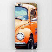 volkswagon iPhone & iPod Skins featuring Peace Bug in Color by Dena Brender Photography