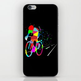 Cycling Forever | Colorful Speed iPhone Skin