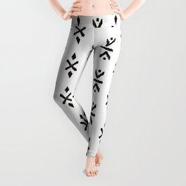 Black and white indian boho summer ethnic arrows Leggings