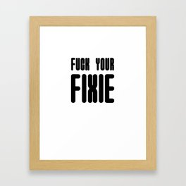 Fixie Framed Art Print