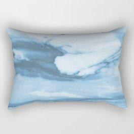 Marble Blue Ocean Rectangular Pillow