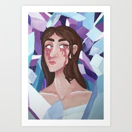 pink tears Art Print