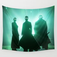 matrix Wall Tapestries featuring The Matrix by Mikko