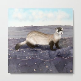 The Black Footed Ferret   Metal Print