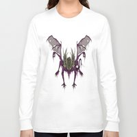 dark souls Long Sleeve T-shirts featuring Gaping Dragon (Dark Souls) by Strange things collection