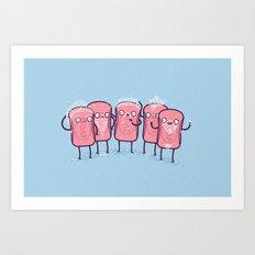 Bubble beards Art Print