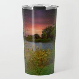 Sunset On The Lagoon Travel Mug