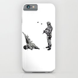 Banksy Soldier With Fallen Angel Artwork Reproduction for Prints Posters Tshirts Men Women Kids iPhone Case
