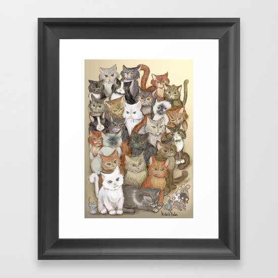 1000 cats Framed Art Print