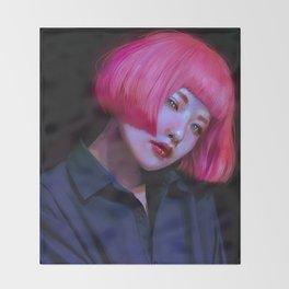Untitled portrait Throw Blanket