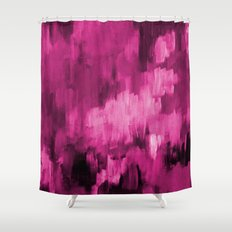 Paint 4 abstract minimal modern art painting canvas affordable art passion pink urban decor Shower Curtain