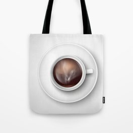 cup of coffee on a white background Tote Bag